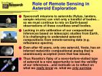 role of remote sensing in asteroid exploration