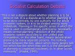 socialist calculation debate