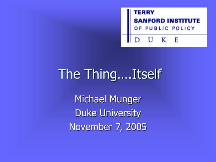 the thing itself n.