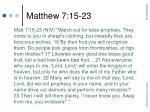 matthew 7 15 23