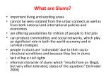 what are slums1