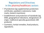 regulations and directives in the pharma healthcare sectors
