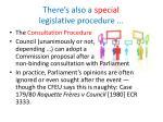 there s also a special legislative procedure