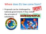 where does eu law come from1