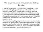 the university social innovation and lifelong learning