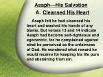 a cleansed his heart