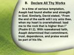 b declare all thy works