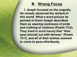 b wrong focus