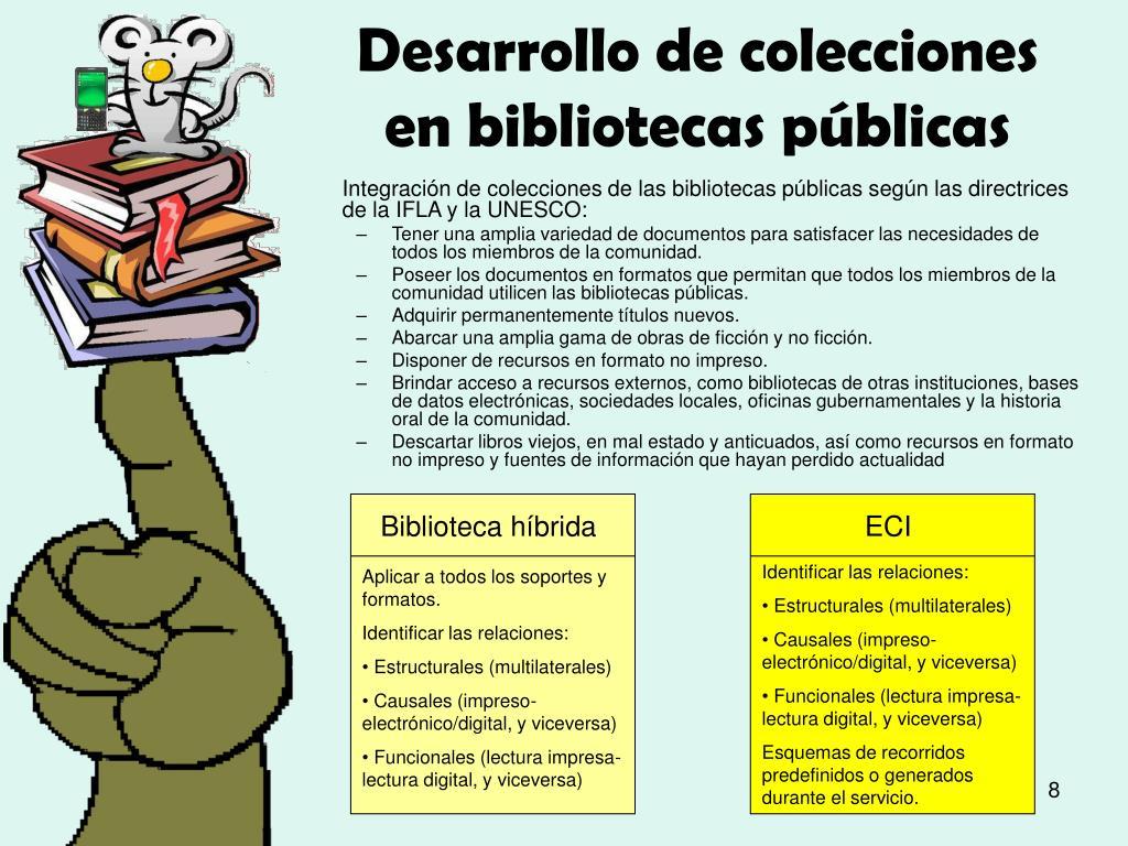 Desarrollo de colecciones en bibliotecas públicas