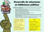 desarrollo de colecciones en bibliotecas p blicas