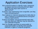 application exercises