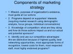 components of marketing strategy