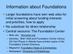 information about foundations