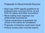 proposals to governmental sources