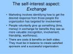 the self interest aspect exchange