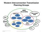 western interconnection transmission planning groups