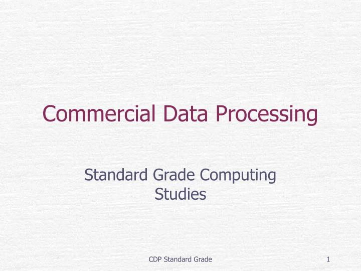 commercial data processing n.