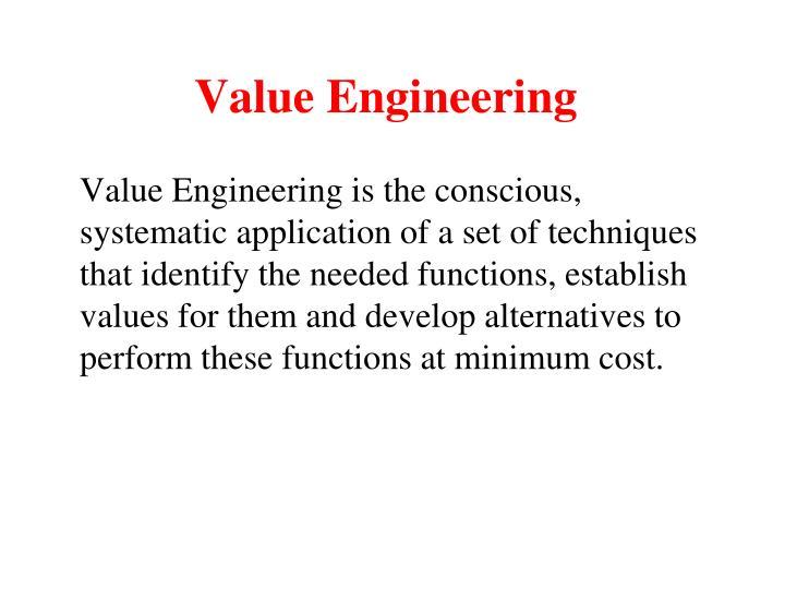 value engineering n.