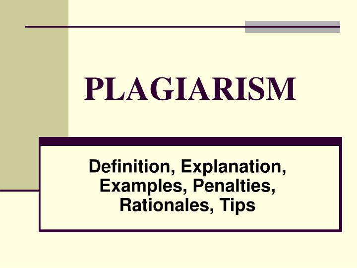plagiarism n.