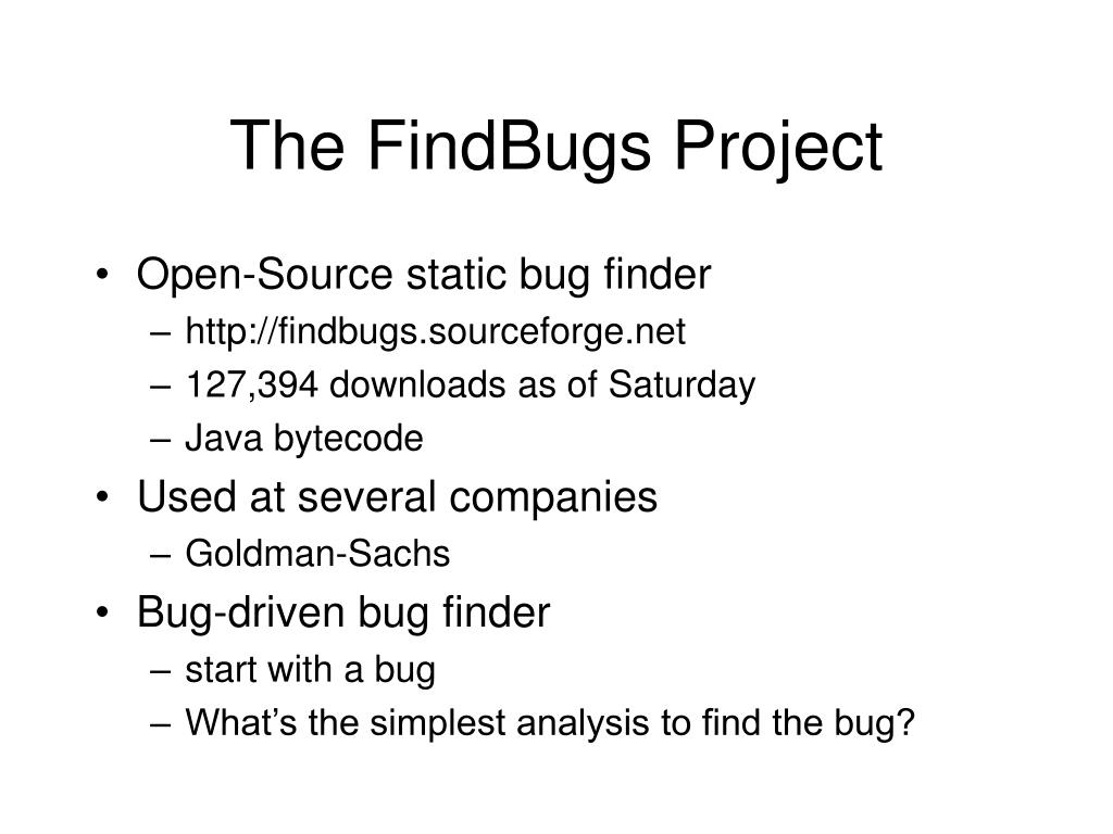 The FindBugs Project
