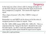 tangency