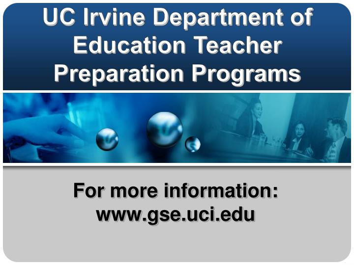 for more information www gse uci edu n.