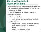 statistical analysis impact evaluation