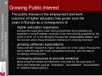 growing public interest