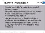 murray s presentation