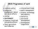 oecd programmes of work