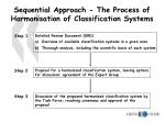 sequential approach the process of harmonisation of classification systems