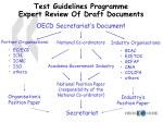 test guidelines programme expert review of draft documents