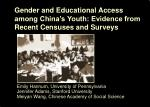 gender and educational access among china s youth evidence from recent censuses and surveys