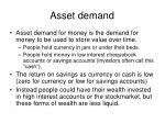 asset demand