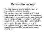 demand for money1