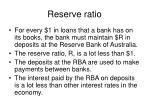 reserve ratio