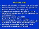 helminths 1930