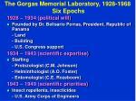 the gorgas memorial laboratory 1928 1968 six epochs