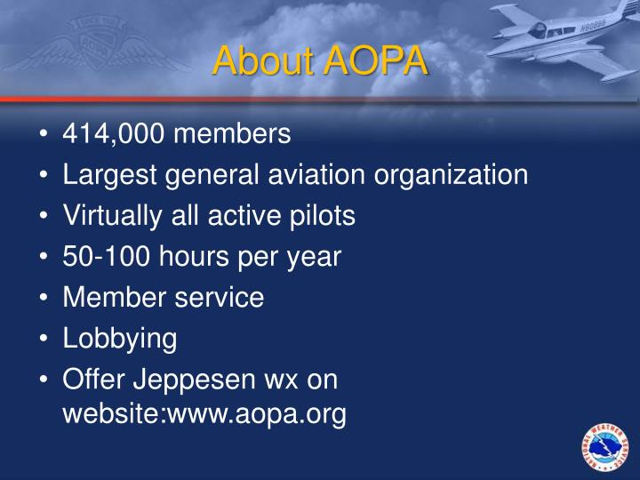 about aopa n.