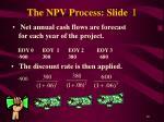 the npv process slide i