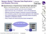 nexsan iseries remote data replication and disaster recovery
