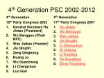 4 th generation psc 2002 2012