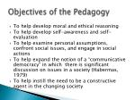 objectives of the pedagogy