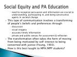 social equity and pa education2