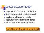 global situation today