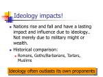 ideology impacts
