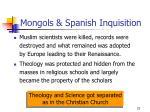 mongols spanish inquisition