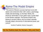 rome the model empire