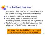 the path of decline