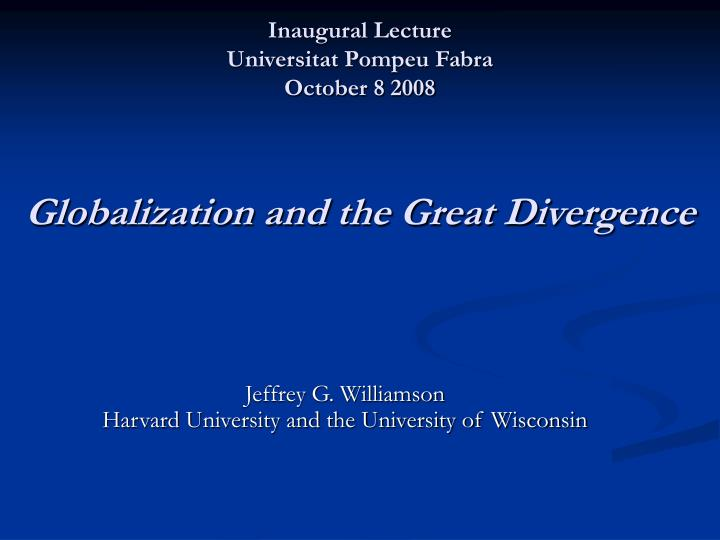 globalization and the great divergence n.